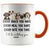 I'll Be Watching You Dog Mom Accent Mug Orange - Tierra Bella