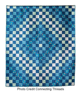 Patchwork Blues Quilt Pattern PDF