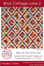 Load image into Gallery viewer, Brick Cottage Lane 2 Quilt Pattern PRINTED - Busy Hands Quilts
