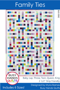 Family Ties Quilt Pattern PDF in Gridwork