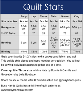 Family Ties Quilt Pattern PDF - Busy Hands Quilts