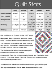 Load image into Gallery viewer, Grandpa's Barn Quilt Pattern PRINTED - Busy Hands Quilts