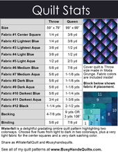 Load image into Gallery viewer, Waterfall Quilt Pattern PRINTED