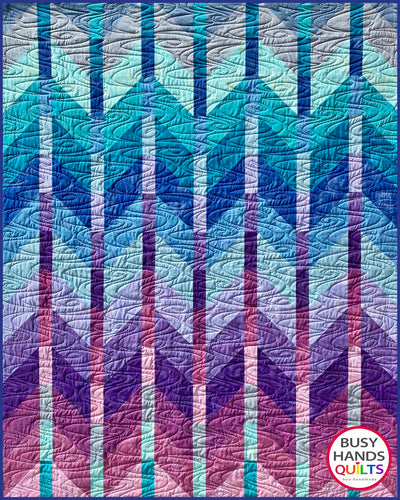 Ombre Mountains Quilt Pattern PDF