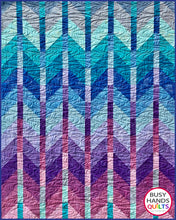 Load image into Gallery viewer, Ombre Mountains Quilt Pattern PRINTED