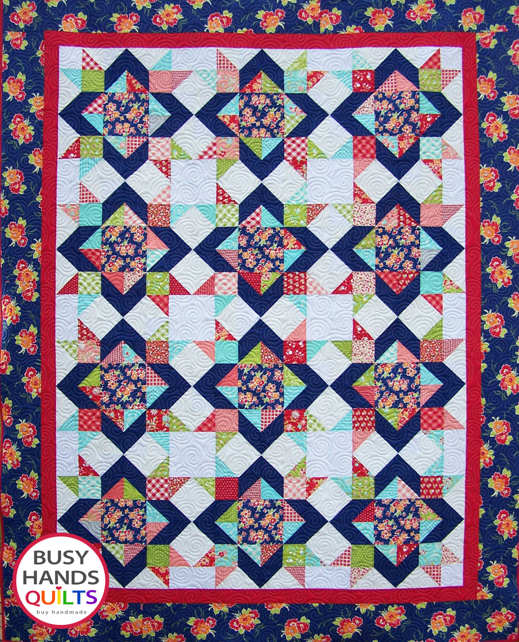 Diamond Dance Quilt Pattern PDF - Busy Hands Quilts