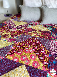 Handmade Modern Queen Bed Quilt