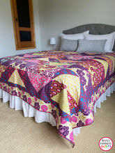 Load image into Gallery viewer, Handmade Modern Queen Bed Quilt