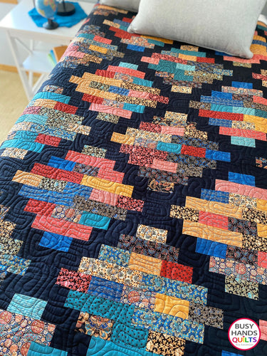 Handmade Hampton Court Throw Quilt in Imperial Elegance
