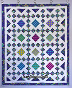 Granny's Square Patch Quilt Pattern PRINTED
