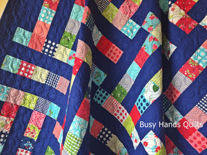 Handmade Family Ties Throw Quilt - Busy Hands Quilts