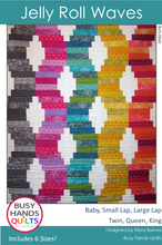 Load image into Gallery viewer, Jelly Roll Waves Quilt Pattern PDF