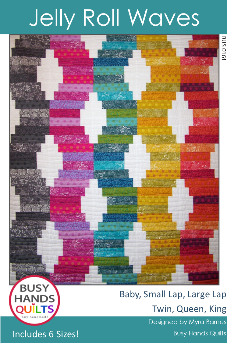 Jelly Roll Waves Quilt Pattern PDF