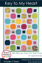 Load image into Gallery viewer, Key to My Heart Quilt Pattern PRINTED