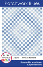 Load image into Gallery viewer, Patchwork Blues Quilt Pattern PDF