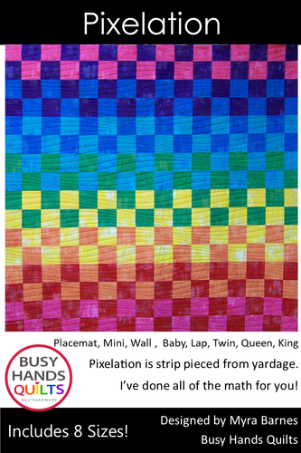 Pixelation Quilt Pattern PRINTED