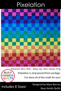 Pixelation Quilt Pattern PDF - Busy Hands Quilts