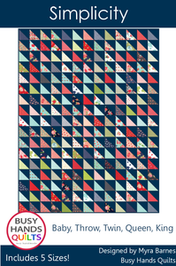Simplicity Quilt Pattern PDF - Busy Hands Quilts