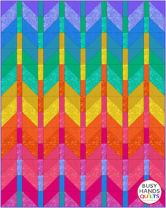 Ombre Mountains Quilt Pattern PRINTED