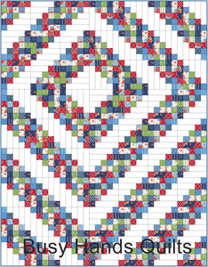 Grandpa's Barn Quilt Pattern PRINTED - Busy Hands Quilts