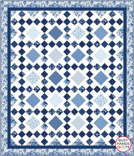 Granny's Square Patch Quilt Pattern PDF