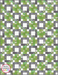 Connected Quilt Pattern PRINTED - Busy Hands Quilts