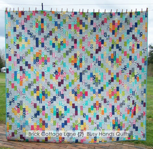 Brick Cottage Lane 2 Quilt Pattern PRINTED