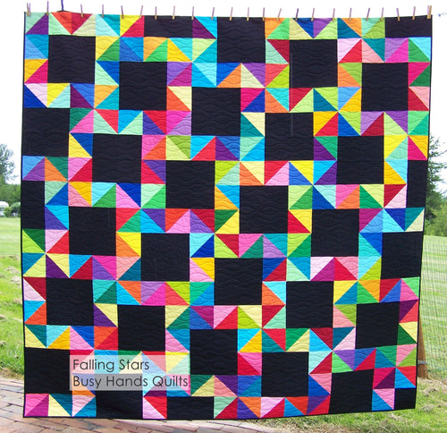 Falling Stars Quilt Pattern PDF - Busy Hands Quilts