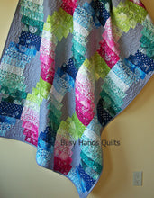Load image into Gallery viewer, Jelly Roll Waves Quilt Pattern PDF - Busy Hands Quilts