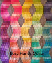 Load image into Gallery viewer, Jelly Roll Waves Quilt Pattern PRINTED - Busy Hands Quilts