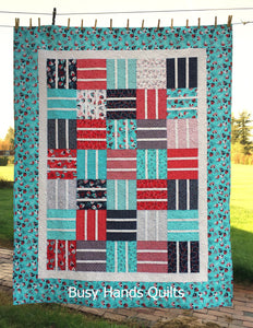 Nautical News Quilt Pattern PRINTED - Busy Hands Quilts