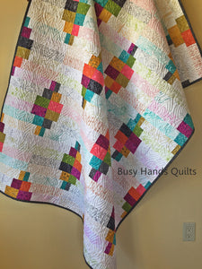 Jelly Roll Waves Quilt Pattern PRINTED - Busy Hands Quilts