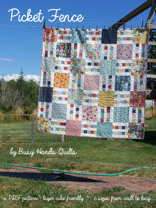 Picket Fence Quilt Pattern PDF - Busy Hands Quilts