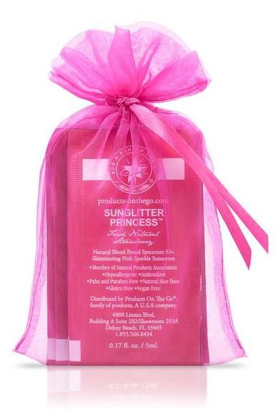 SunGlitter Princess® Natural Blend 30+ Broad Spectrum Shimmering Pink Sparkle Sunscreen