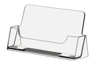 Clear - Acrylic - Free Standing Business Card Holder