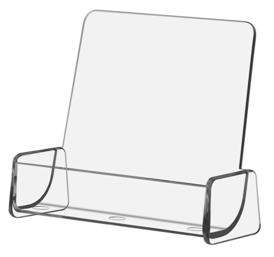 Style C - Clear - Free Standing Business Card Holder
