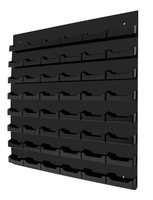 48 Pocket Wall Mount Business Card Holder - Horizontal - Black