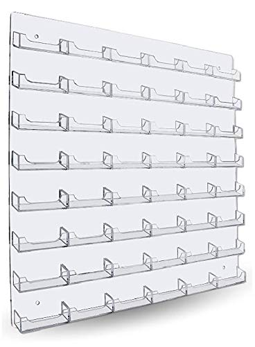 48 Pocket Wall Mount Business Card Holder - Horizontal - Clear