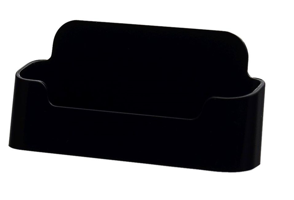Style B - Black - Free Standing Business Card Holder