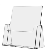 Clear Acrylic 8.5x11 Magazine Display Stands - Full Page Brochure Holder  SKU: FP-A