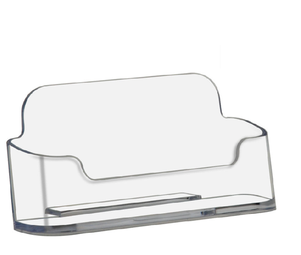 Style B - Clear - Free Standing Business Card Holder