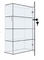 10x4x18 Clear Acrylic Display Case with Fixed Shelving