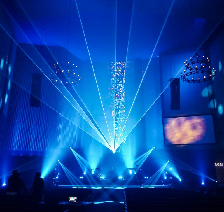 5 Words Media is bringing laser to houses of worship