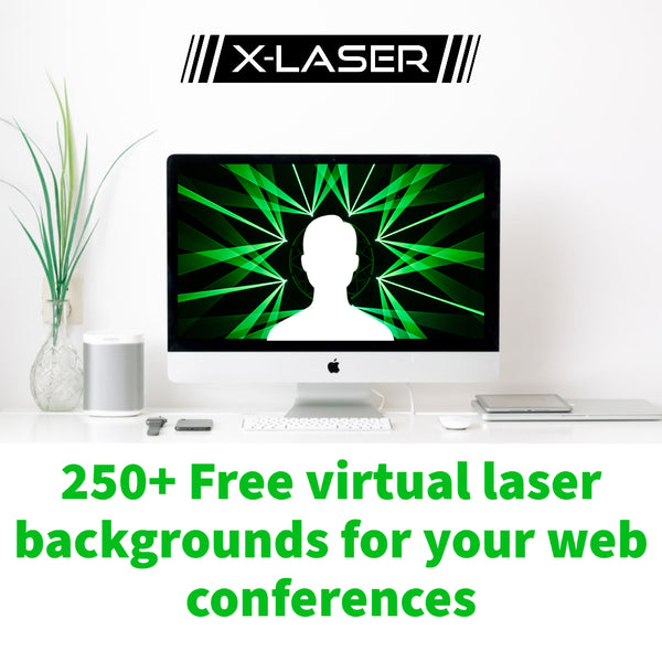 Free Laser Backgrounds for Your Virtual Meetings