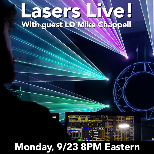 Lasers Live on Sept 23rd