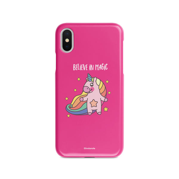 Believe in Magic - Buy Unicorn iPhoneX  Mobile Cover in India