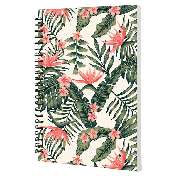 Tropical Floral - Non Dated Daily Planner A5 Size 80 Pages