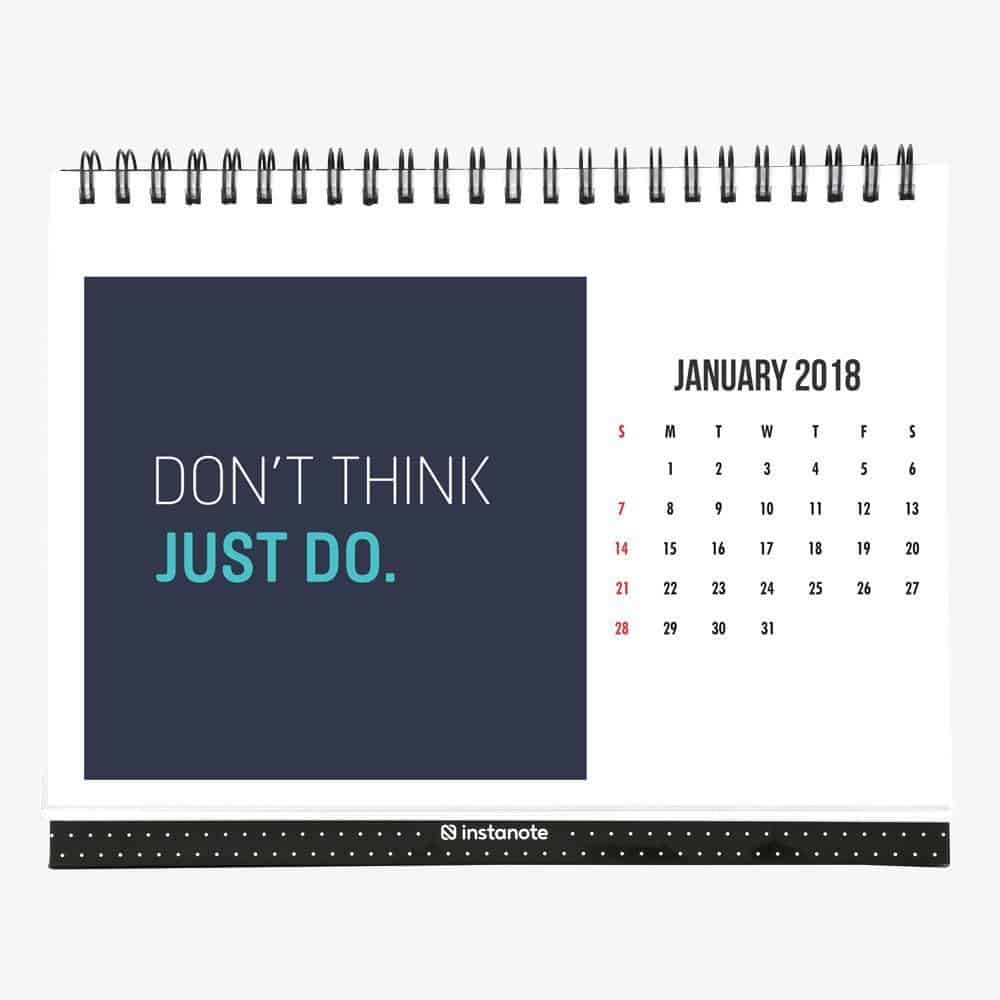 2018 Desk Calendar With Motivational Inspirational Quote 8 X 6