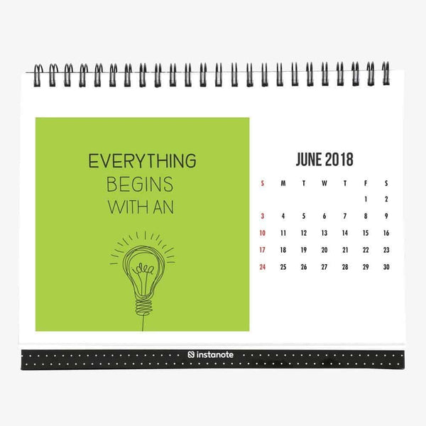 2018 Desk Calendar with Motivational Inspirational Quote – 8″ x 6″