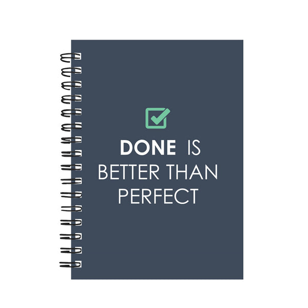 Done is better than Perfect! – Wiro Diary with Motivational Quote
